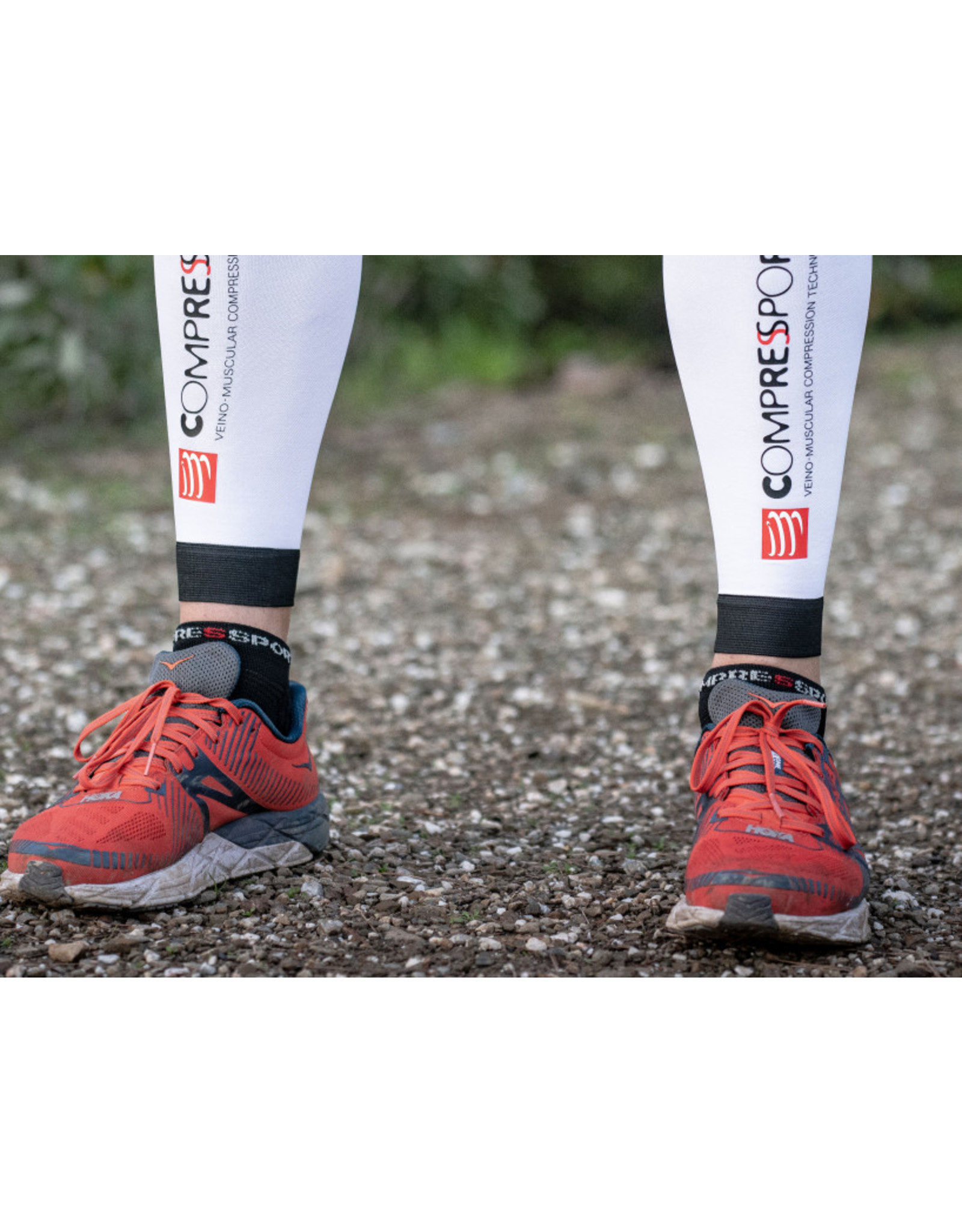 Compressport Pro Racing Socks V3.0 Run Low Hardloopsokken Laag - Zwart