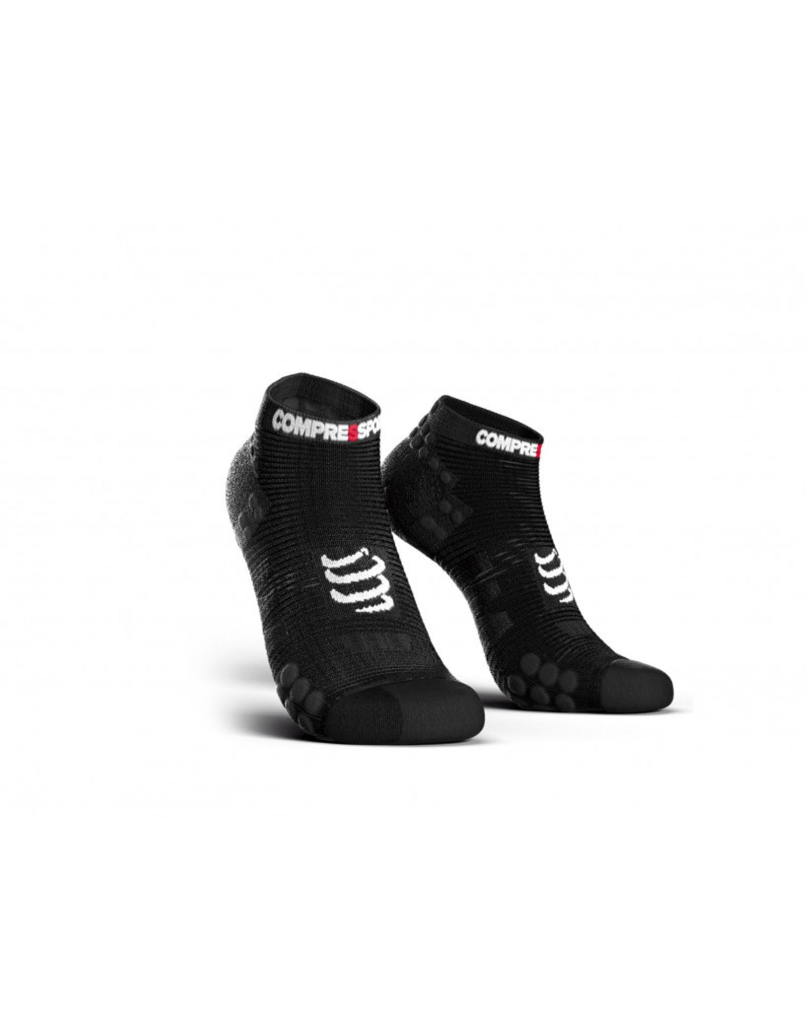 Compressport Pro Racing Socks V3.0 Run Low Chaussettes De Running Bas - Noir
