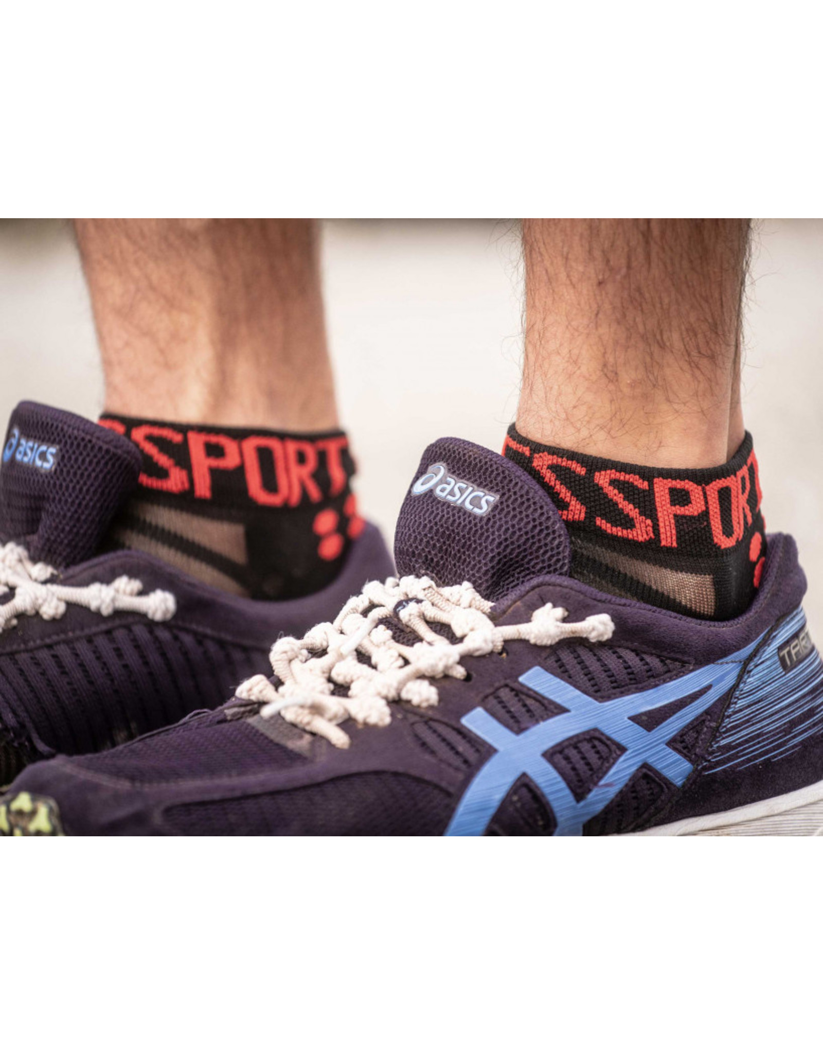 Compressport Pro Racing Socks V3.0 Ultralight Run Low Hardloopsokken - Zwart/Rood