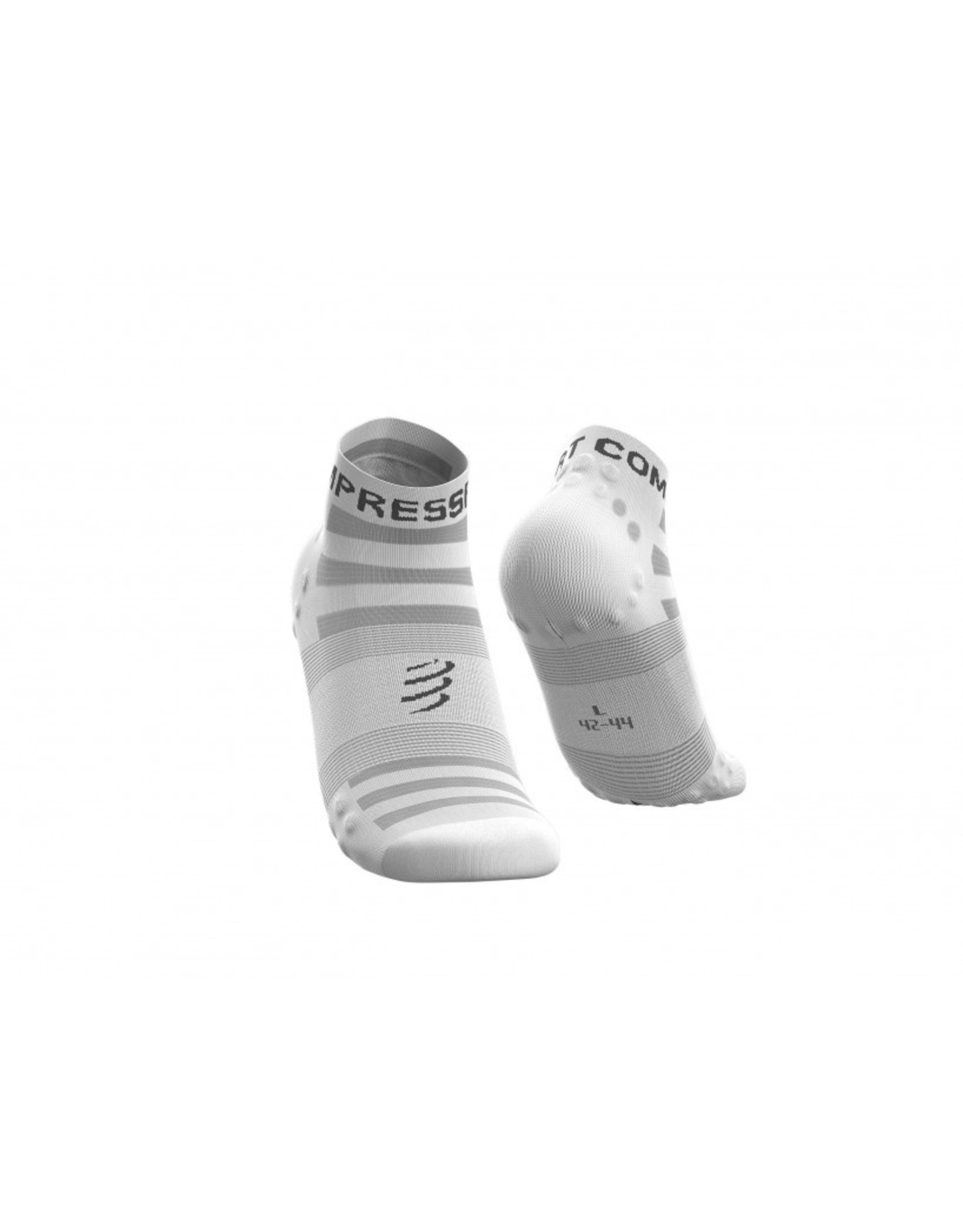 Compressport Pro Racing Socks V3.0 Ultralight Run Low Chaussettes De Running - Blanc
