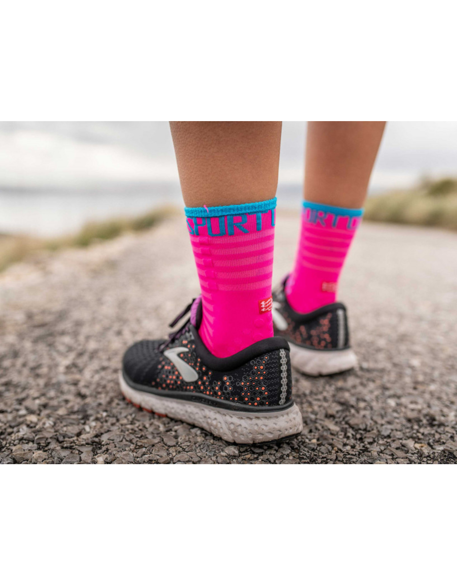 Compressport Pro Racing Socks V3.0 Ultralight Run High Hardloopsokken - Roze