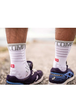 Compressport Pro Racing Socks V3.0 Ultralight Run High Chaussettes De Running - Blanc