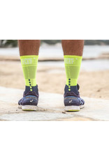 Compressport Mid Compression Socks Chaussettes De Running - Bleu/Lime