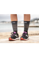 Compressport Mid Compression Socks Chaussettes De Running - Noir/Gris
