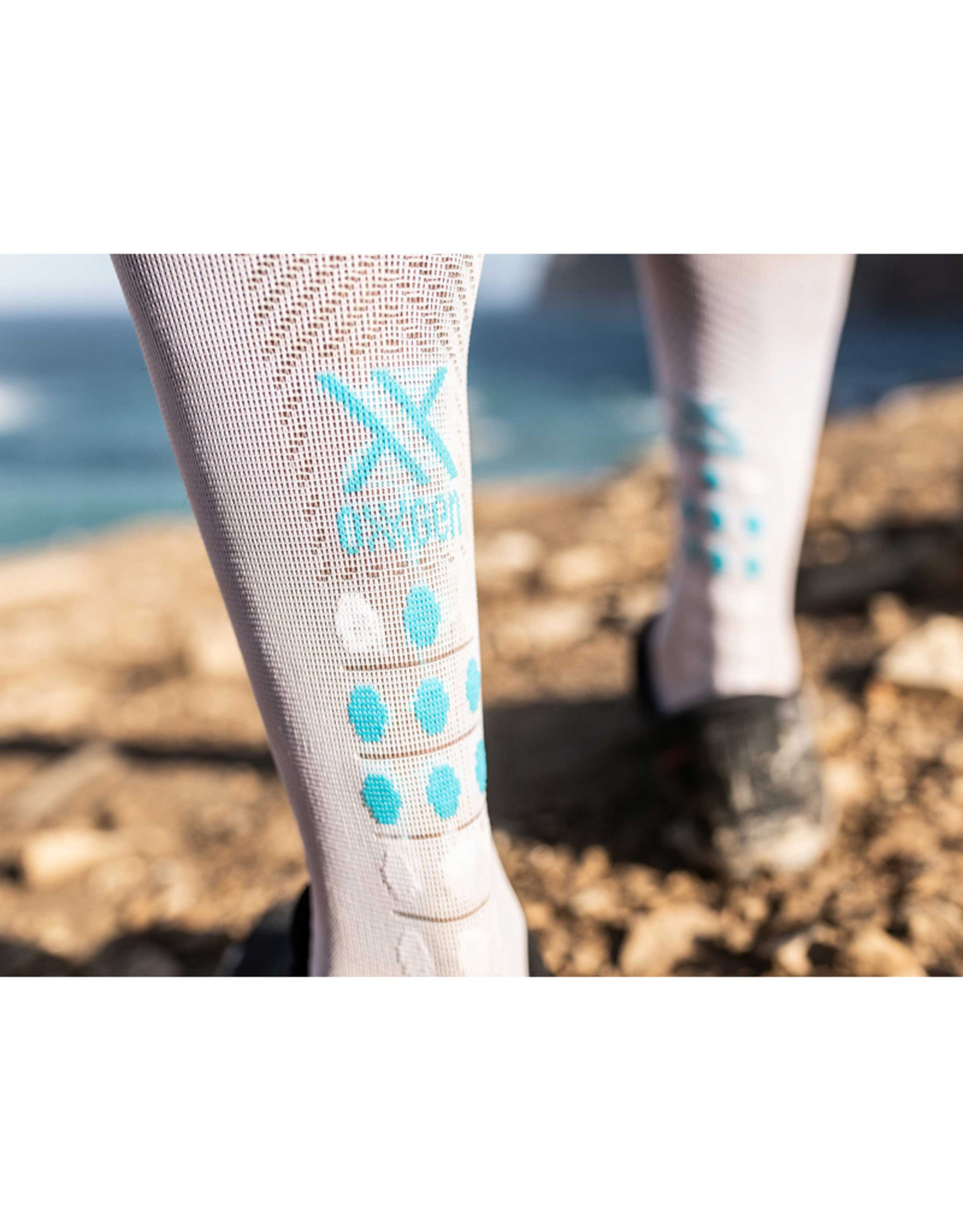 Compressport Full Socks Race Oxygen Chaussettes De Compression - Blanc