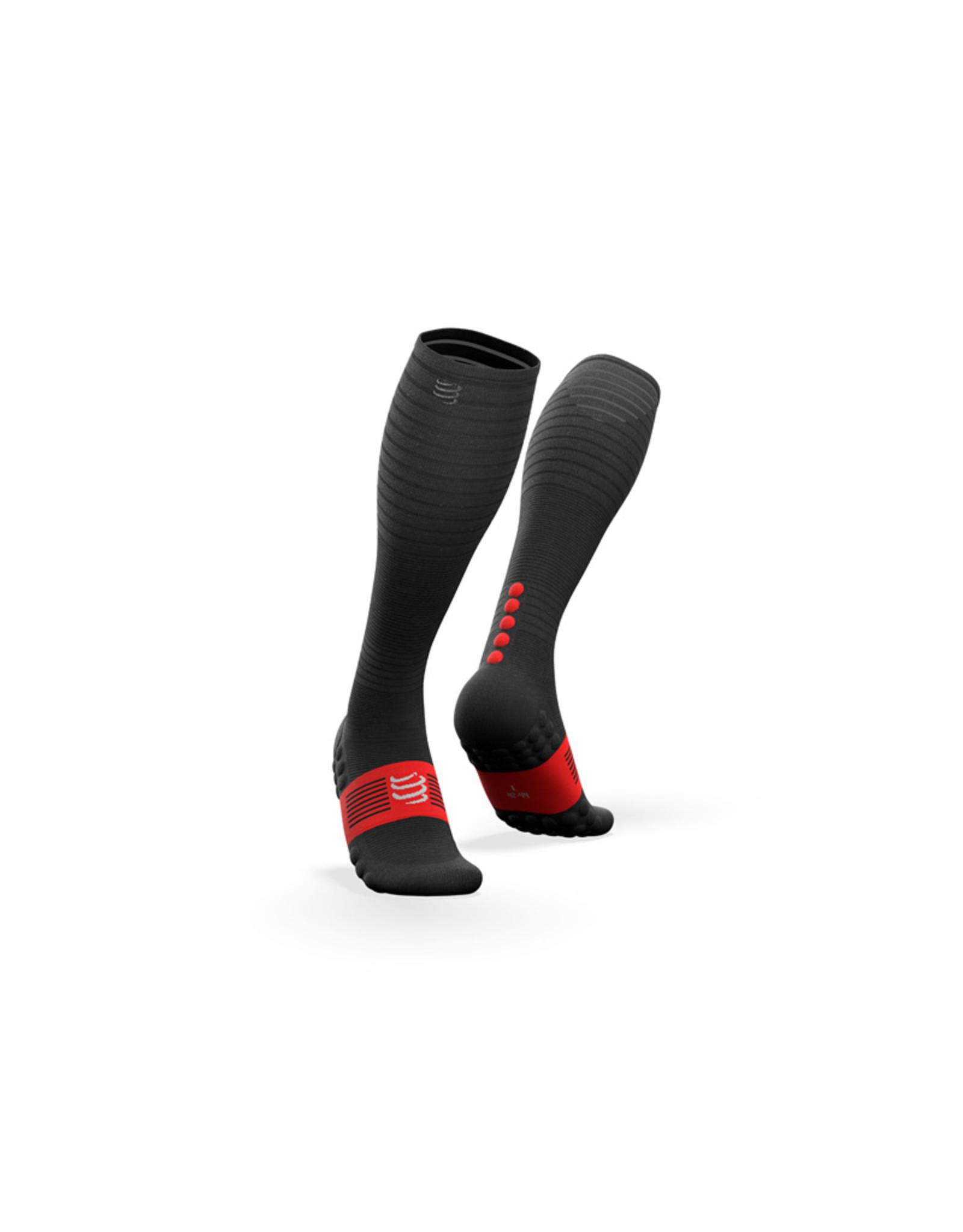 Compressport Full Socks Oxygen Chaussettes De Compression - Noir