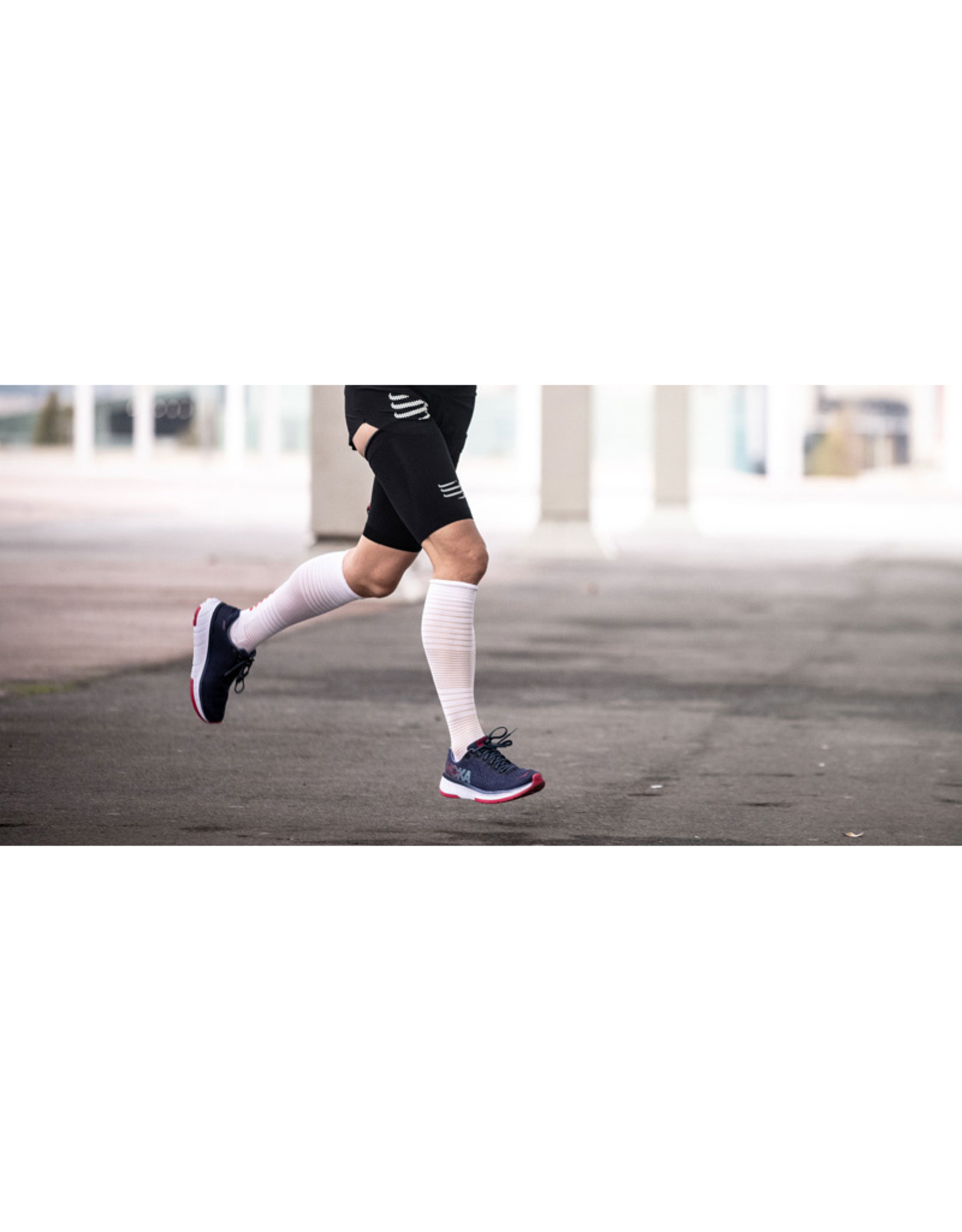 Compressport Full Socks Oxygen Chaussettes De Compression - Blanc