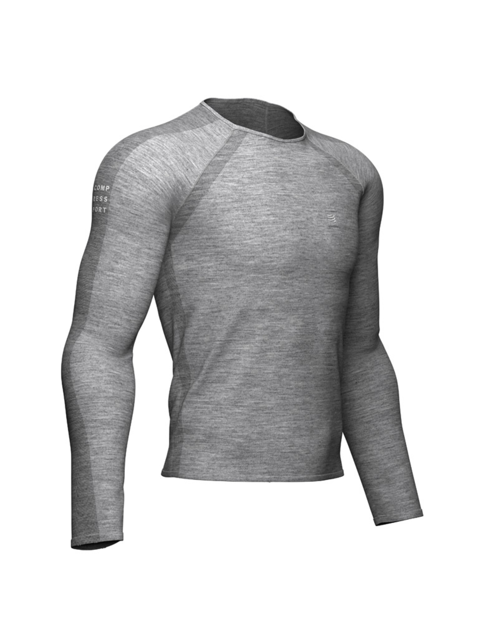 Compressport Training Shirt Manche Longue - Gris