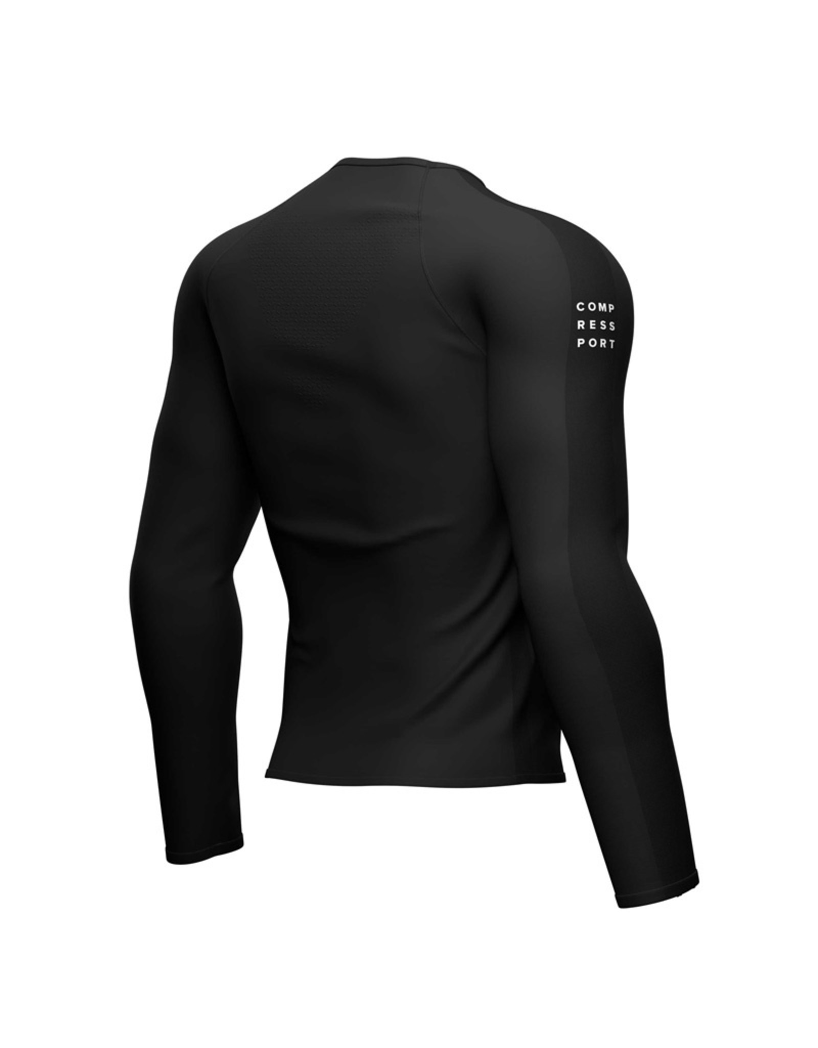 Compressport Training Shirt Lange Mouw - Zwart