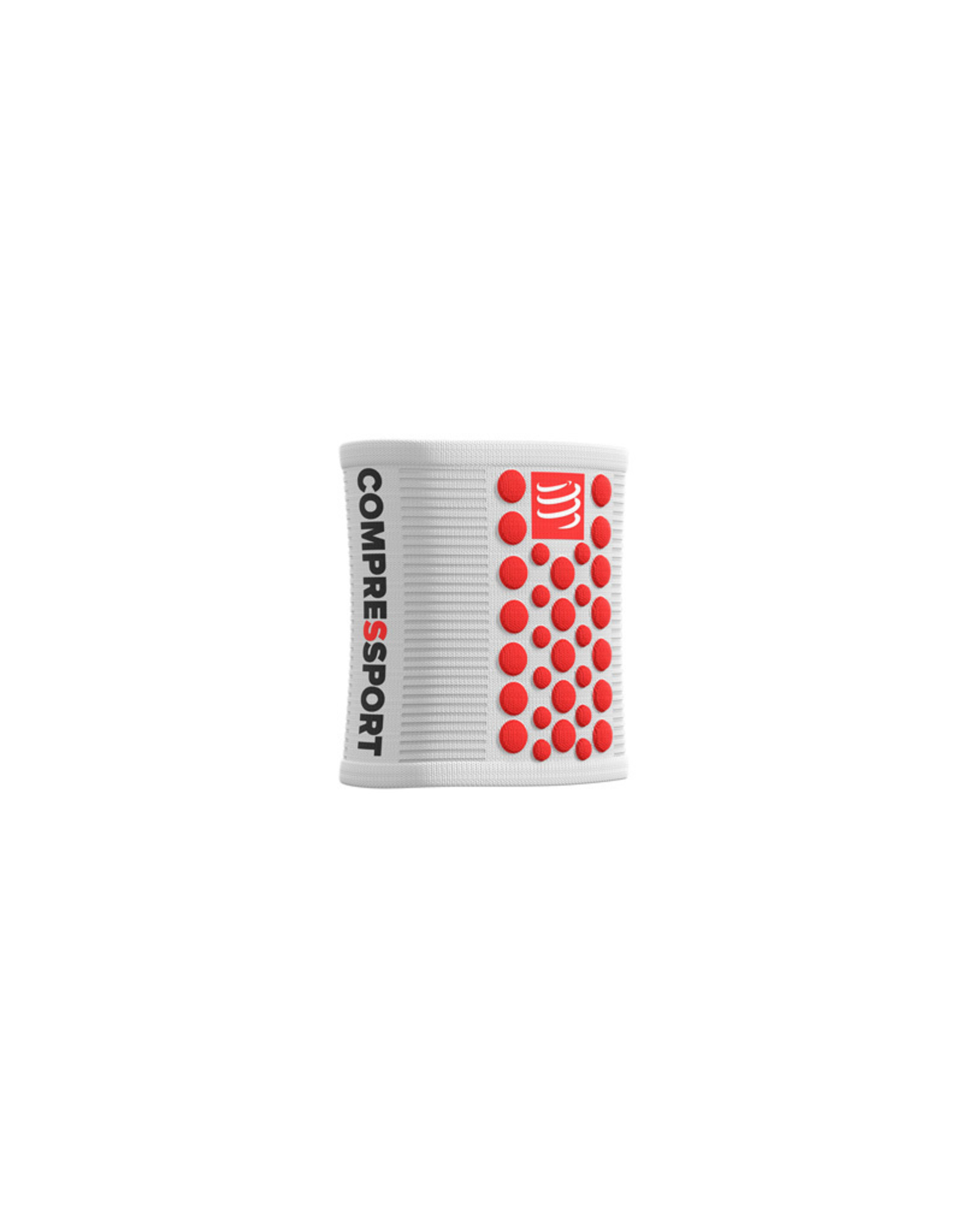 Compressport Zweetbandjes 3D Dots - Blanc/Rouge