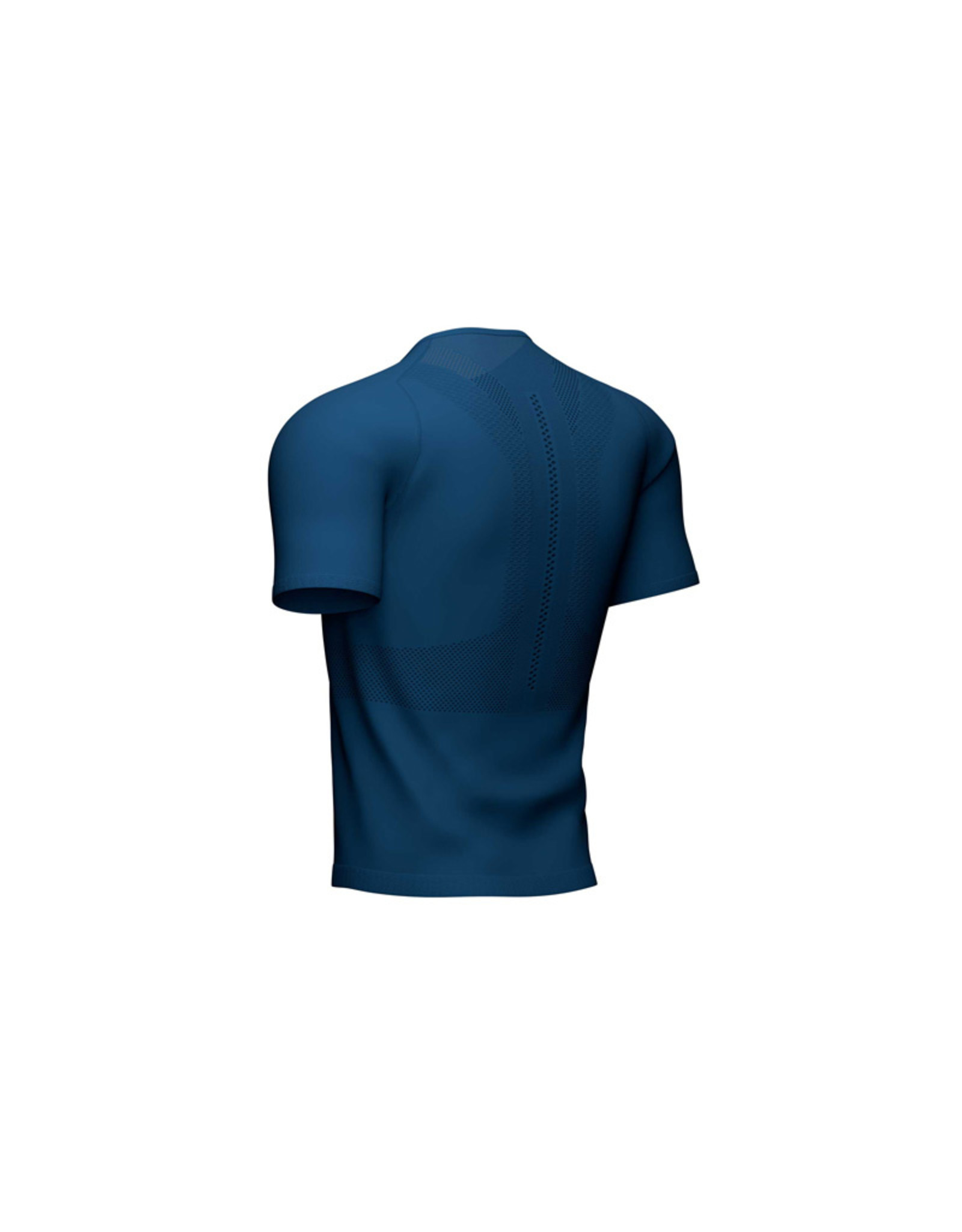 Compressport Trail Half-Zip Fitted Ss Top Shirt Met Rits - Blauw