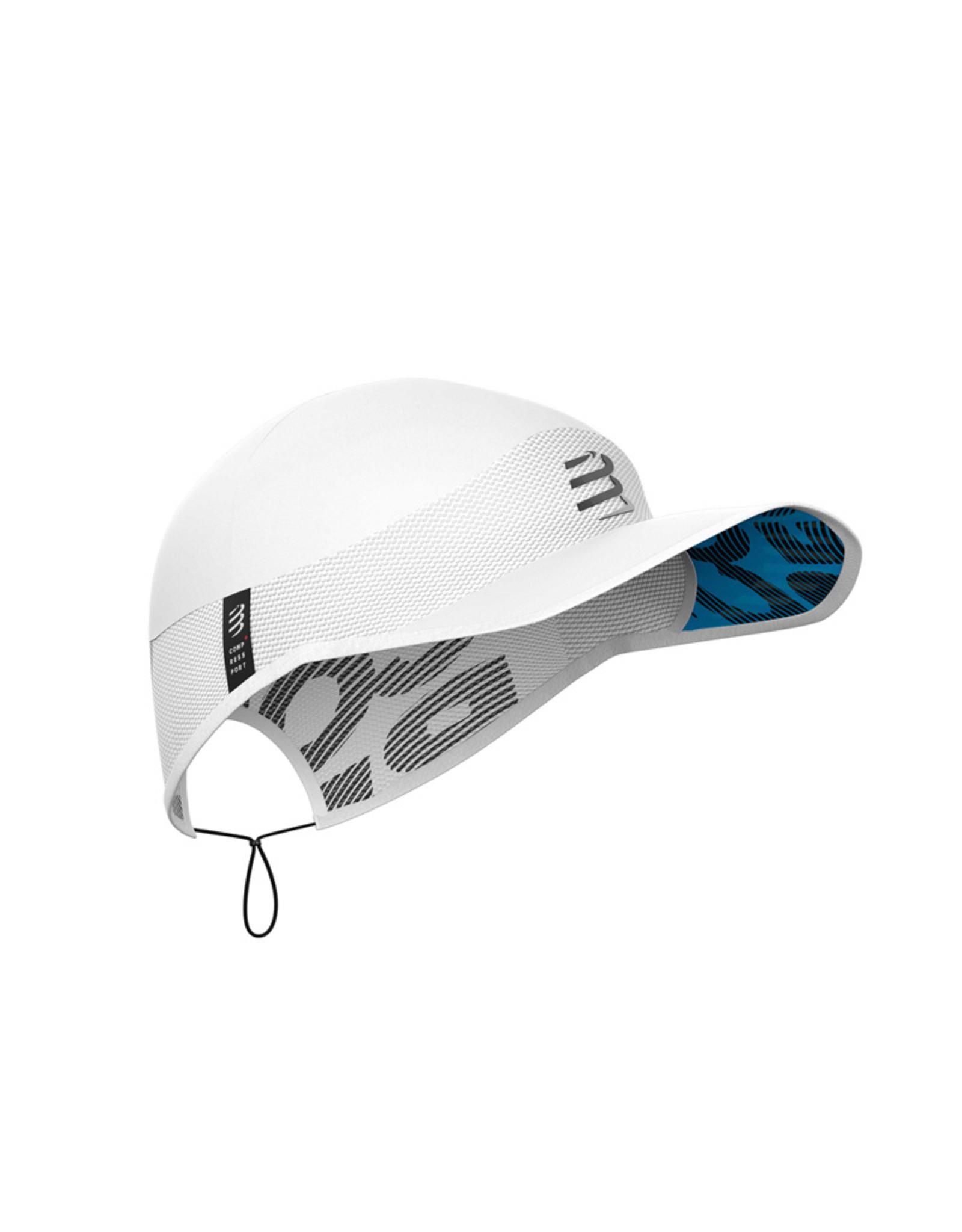 Compressport Pro Racing Cap Casquette Pour Running - Blanc