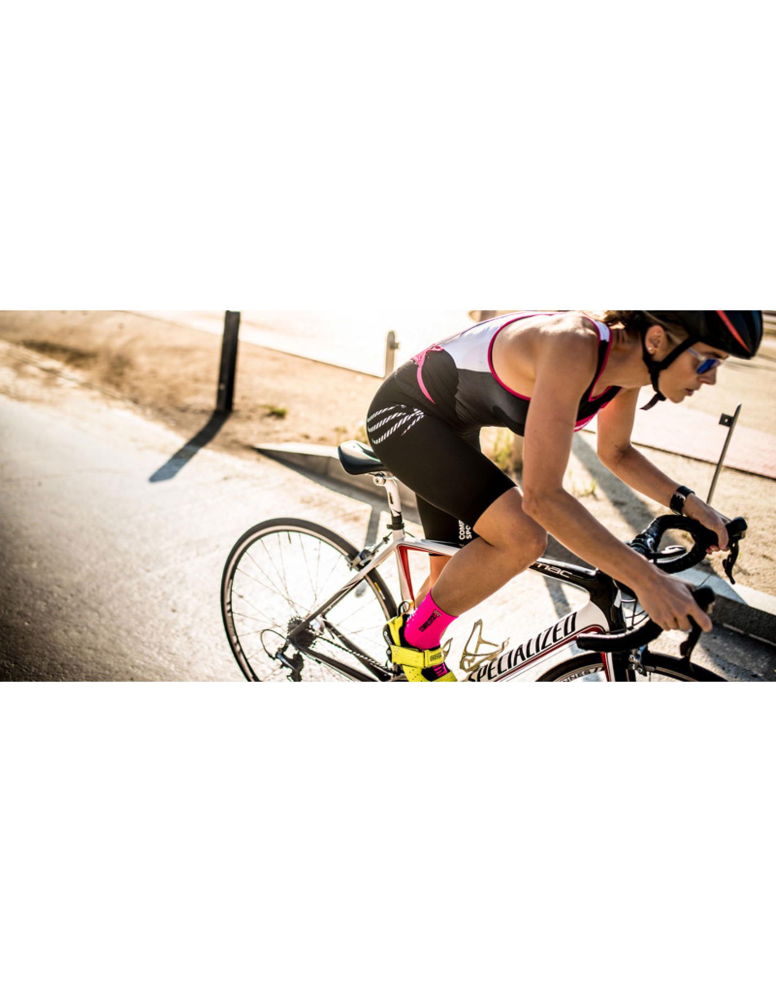 Compressport Pro Racing Socks V3.0 Bike Chaussettes Bicyclette - Rose