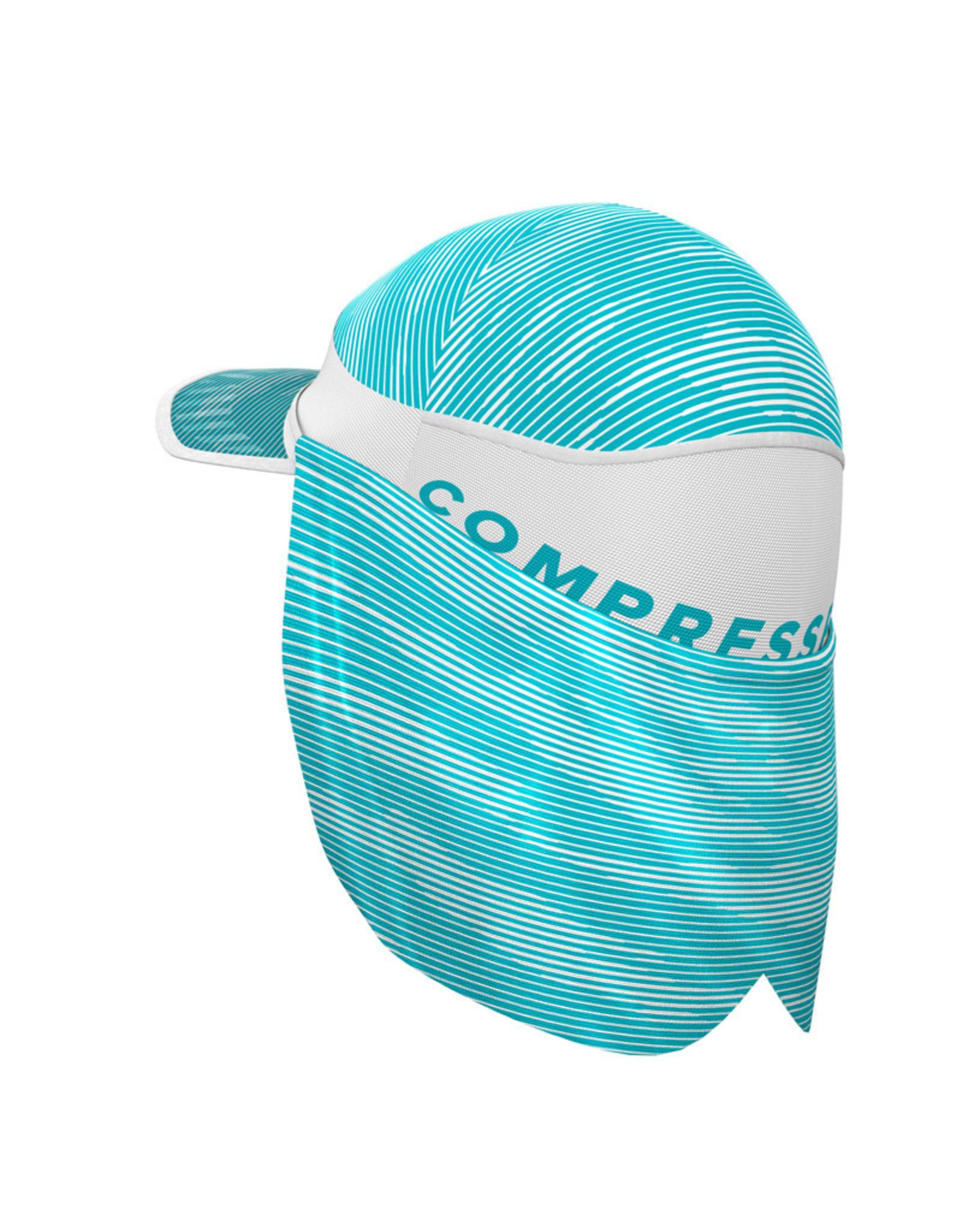 Compressport Ice Cap Sun Shade Casquette  Pour Conditions Extremement Chaudes - Blanc