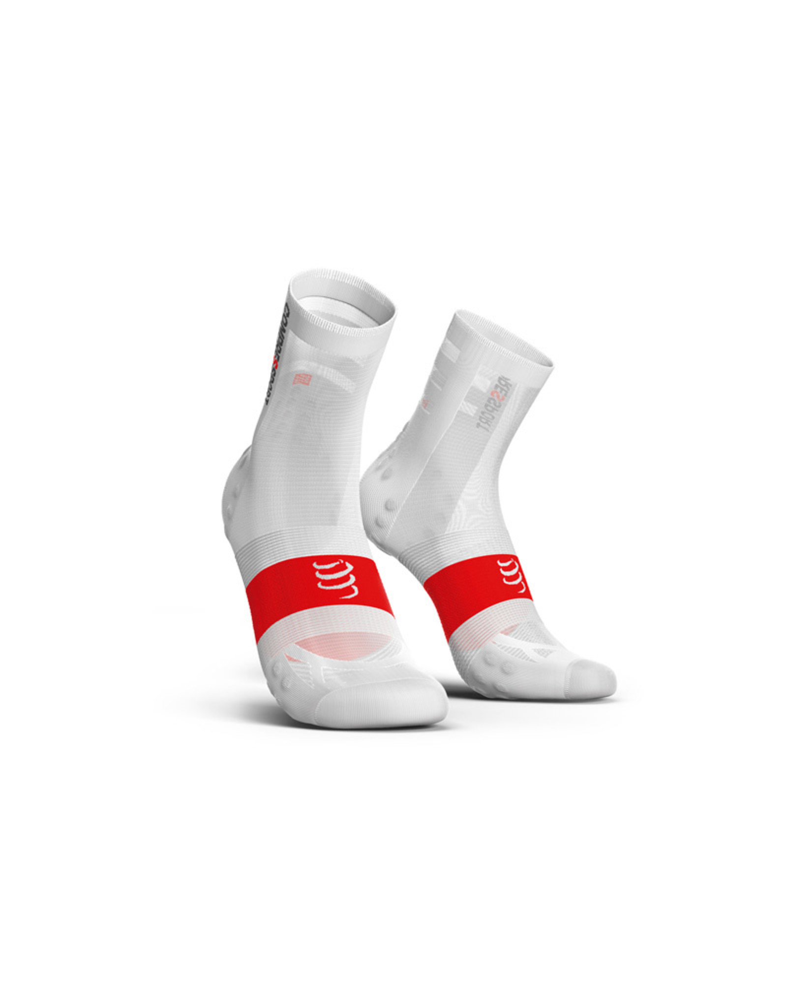 Compressport Pro Racing Socks V3.0 Ultralight Bike Chaussettes Bicyclette - Blanc