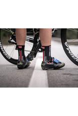 Compressport Pro Racing Socks V3.0 Bike Chaussettes Bicyclette - Noir/Rouge