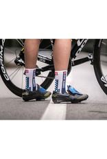 Compressport Pro Racing Socks V3.0 Bike Chaussettes Bicyclette - Blanc/Bleu