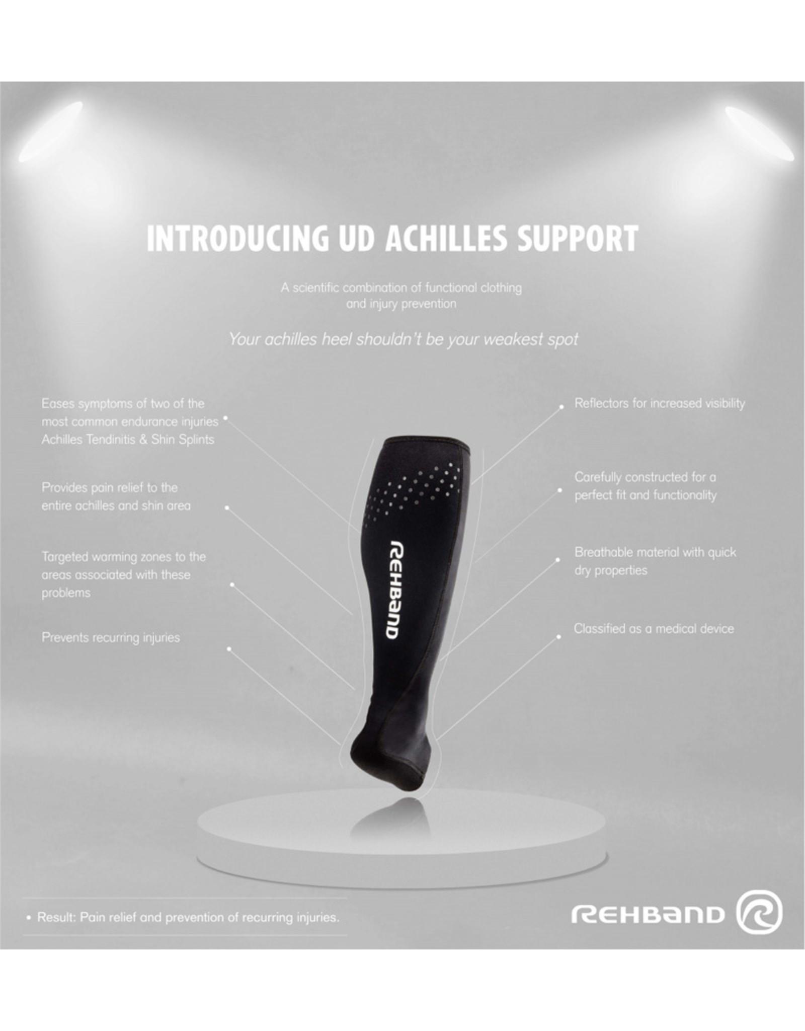 Rehband Ud Achilles Support (Pair) - Zwart