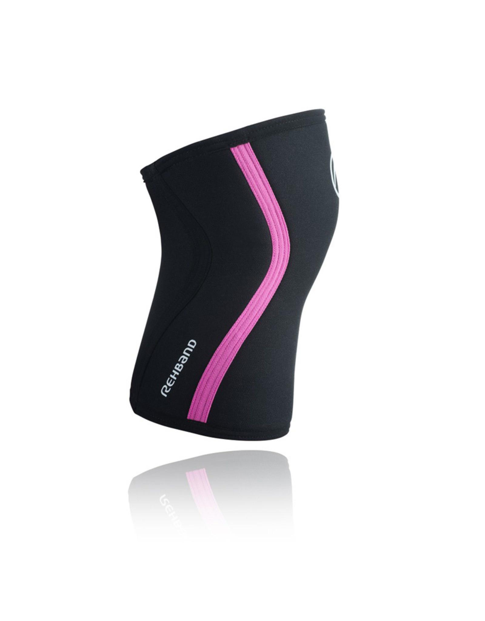 Rehband Rx Knee Sleeve 7Mm Kniebrace - Zwart/Roze