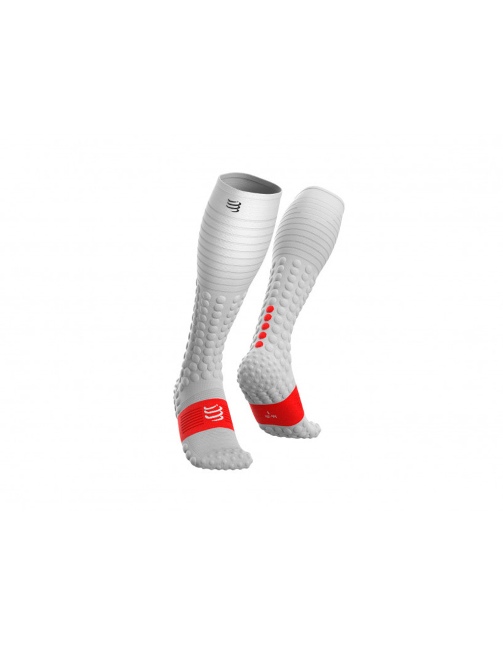 Compressport Full Socks Race & Recovery Chaussettes De Compression - Blanc