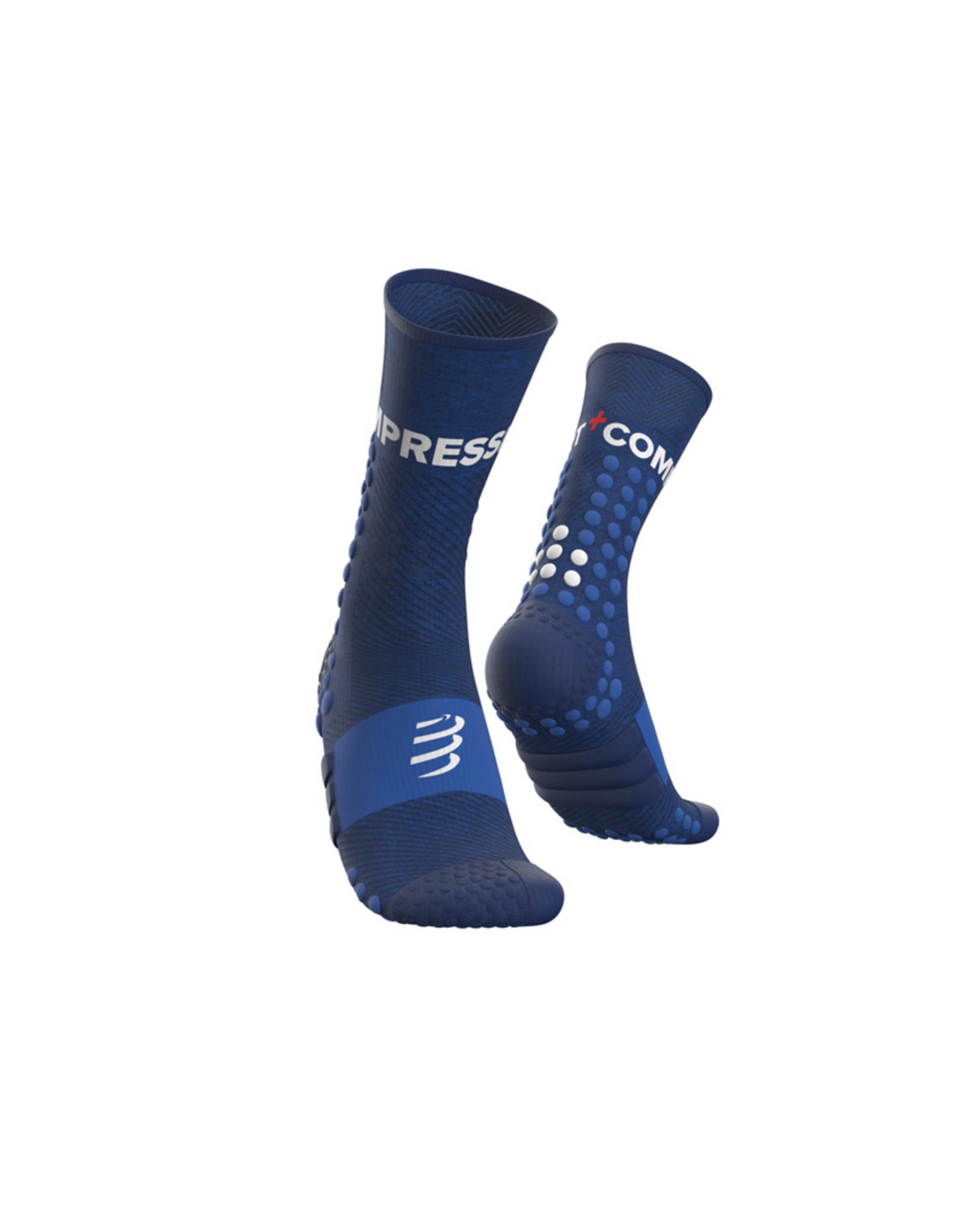 Compressport Ultra Trail Socks Chaussettes De Running Haute - Bleu