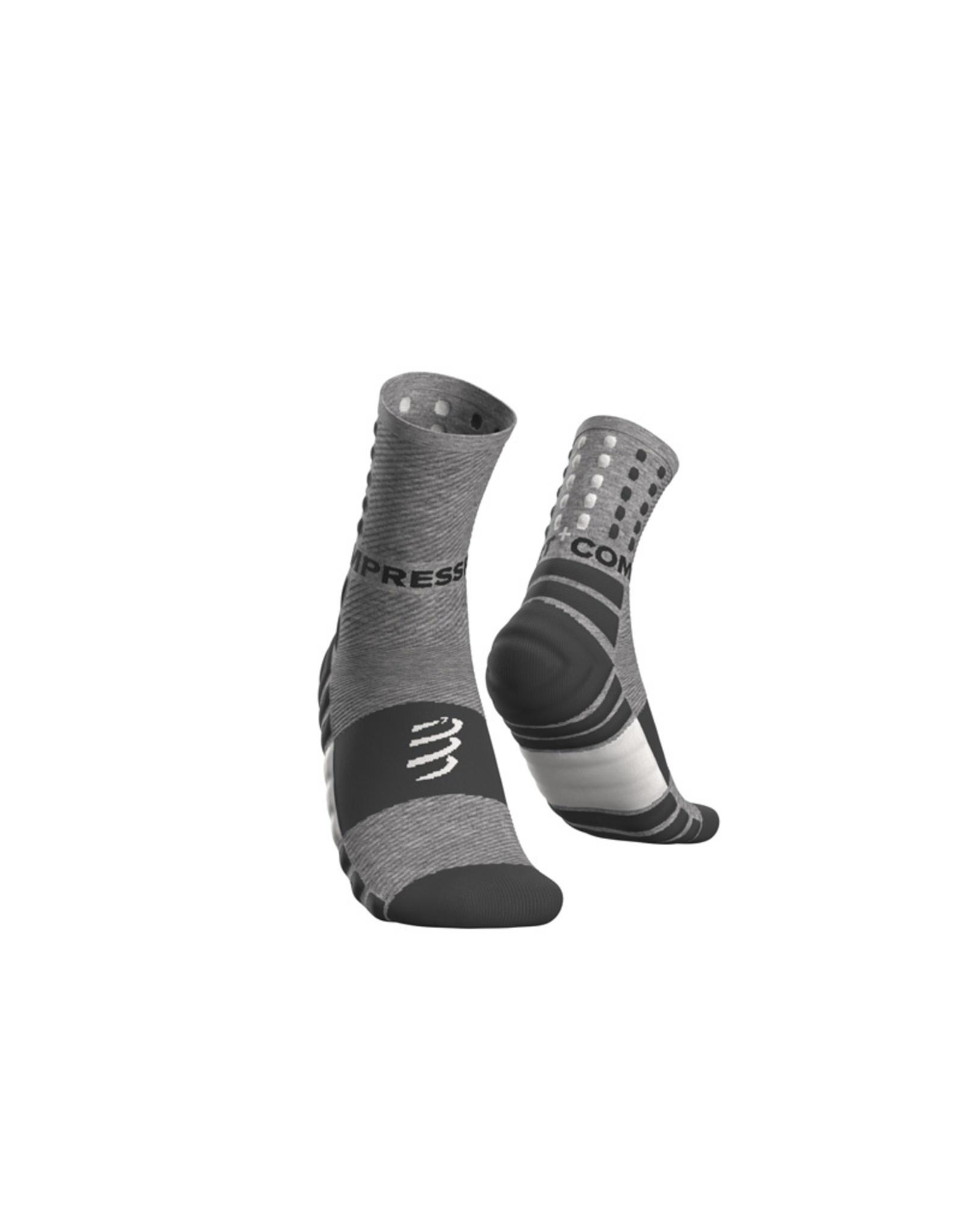 Compressport Shock Absorb Socks Hardloopsokken Hoog - Grijs