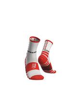 Compressport Shock Absorb Socks Chaussettes De Running Haute - Blanc