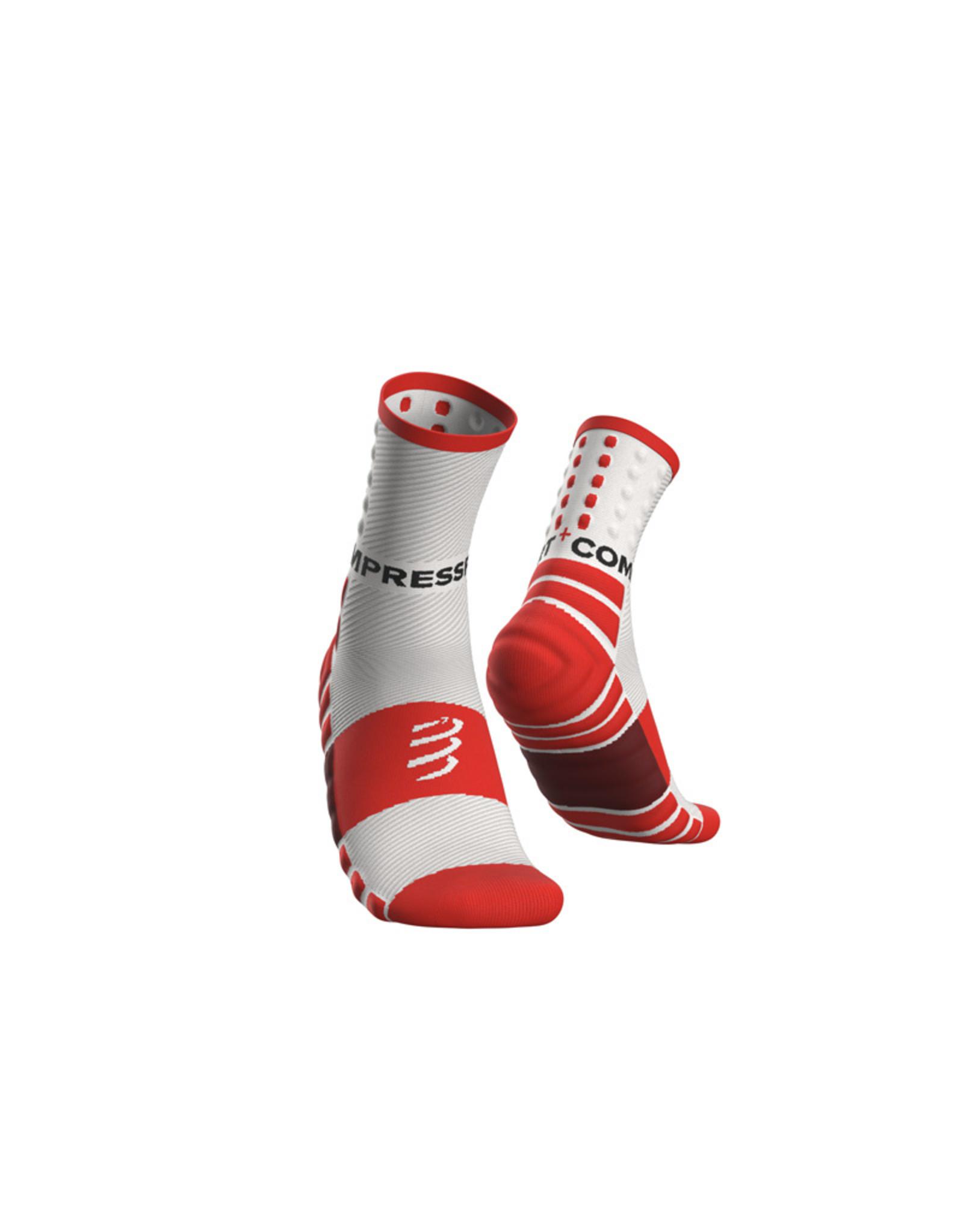 Compressport Shock Absorb Socks Hardloopsokken Hoog - Wit