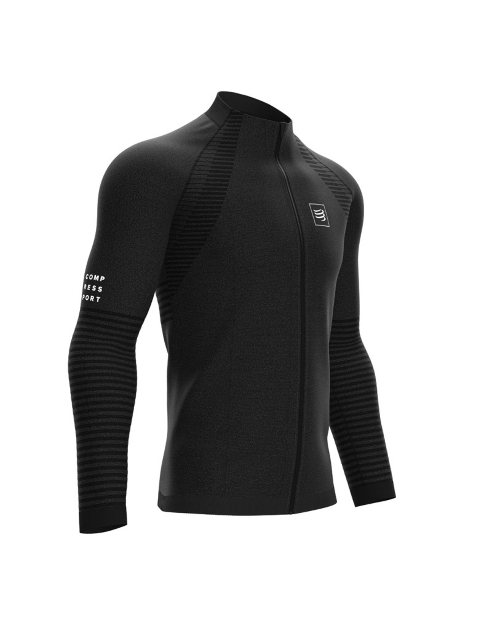Compressport Seamless Zip Sweatshirt - Zwart