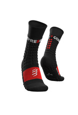 Compressport Pro Racing Socks Winter Run Chaussettes De Running - Noir/Rouge
