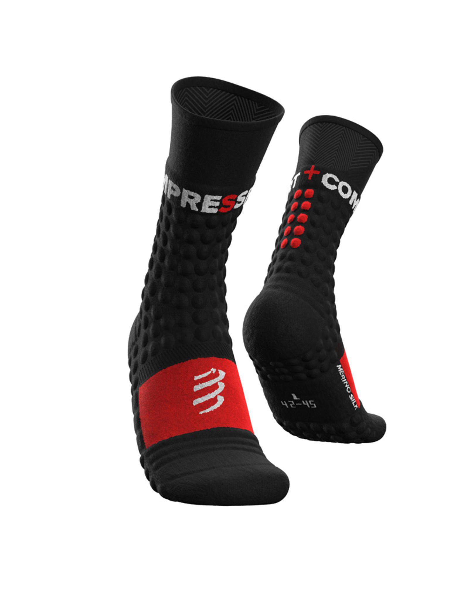 Compressport Pro Racing Socks Winter Run Hardloopsokken - Zwart/Rood
