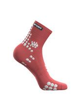 Compressport Pro Racing Socks V3.0 Run High Chaussettes De Running - Rose