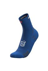 Compressport Pro Racing Socks V3.0 Run High Chaussettes De Running - Bleu