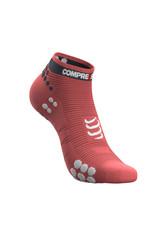 Compressport Pro Racing Socks V3.0 Run Low Chaussettes De Running - Rose