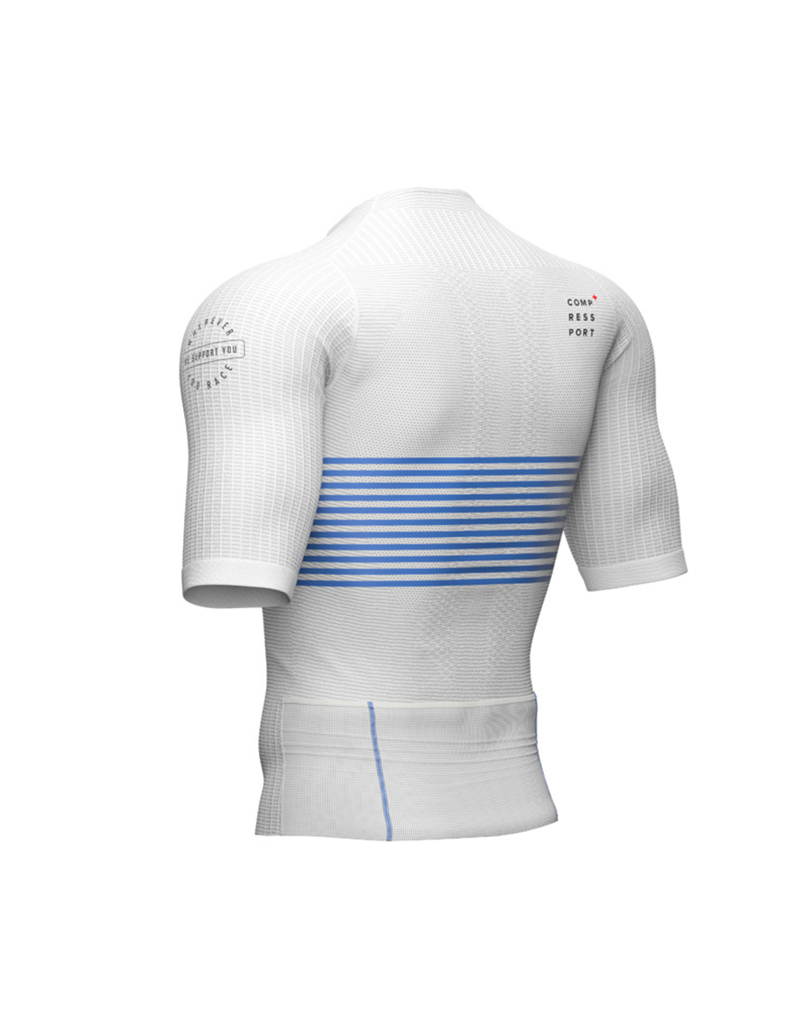 Compressport Tri Postural SS Top Triathlon Shirt - Wit