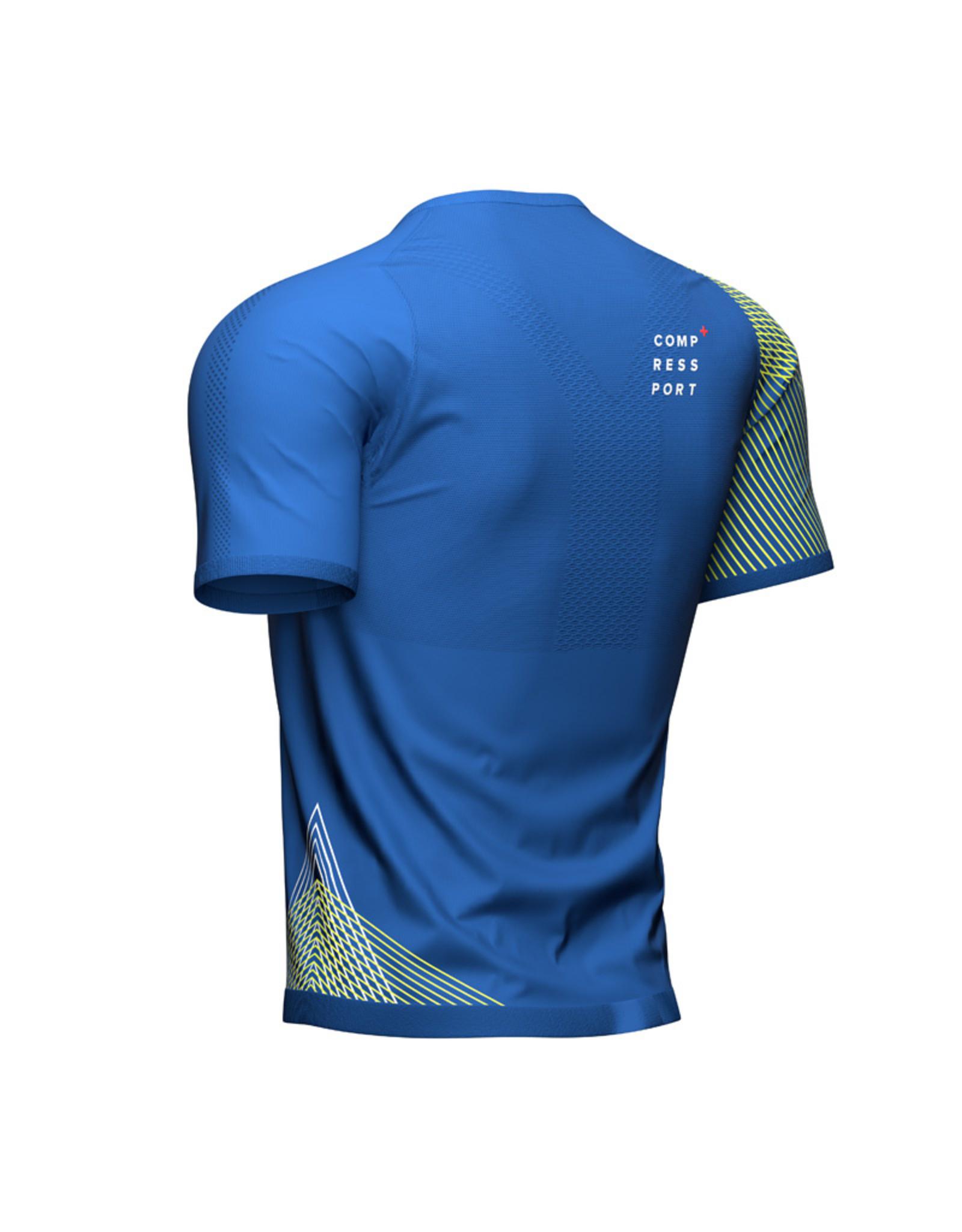 Compressport Performance SS Tshirt - Blauw