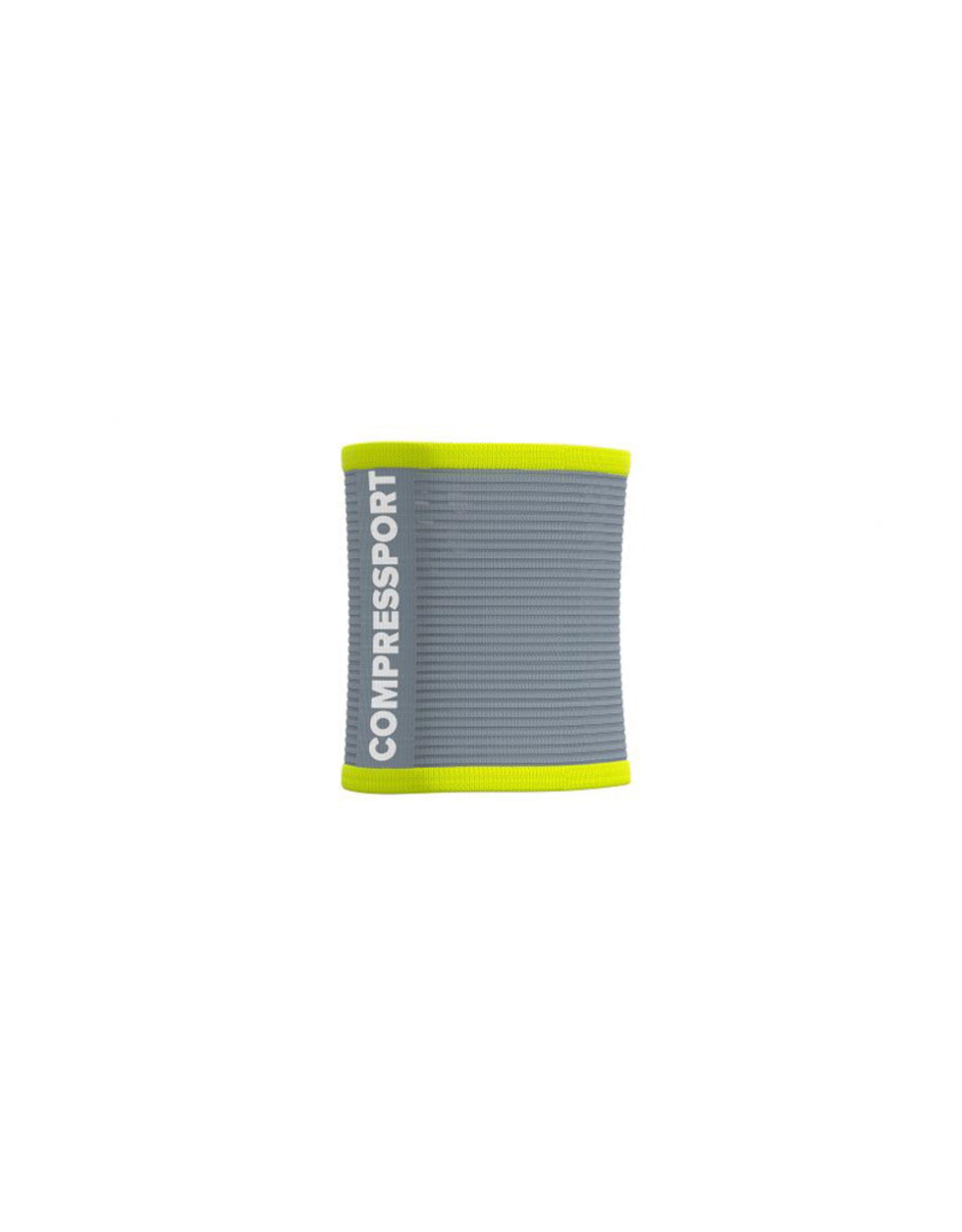 Compressport Sweatbands 3D.Dots - Gris/Jaune