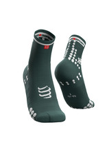 Compressport Pro Racing Socks v3.0 Run High  Groen/Wit Hardloopsokken Hoog