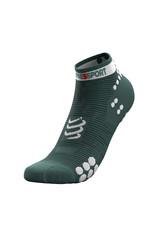 Compressport Pro Racing Socks v3.0 Run Low  Groen/Wit Hardloopsokken Laag