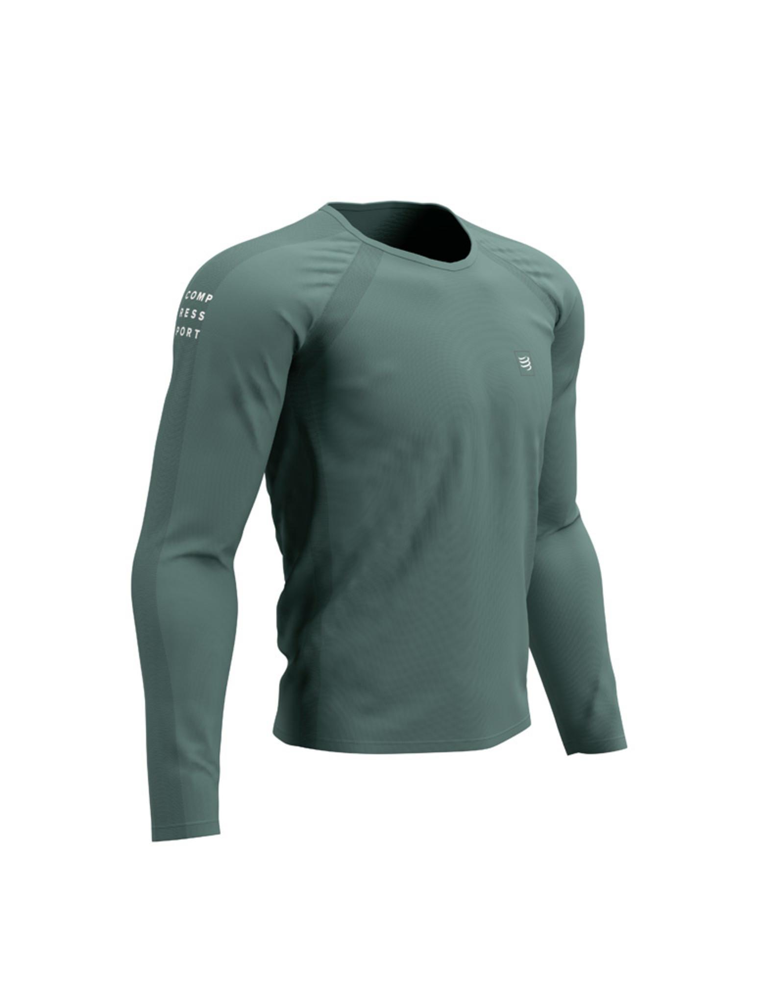 Compressport Training Tshirt LS  Vert Chemise de course à manches longues