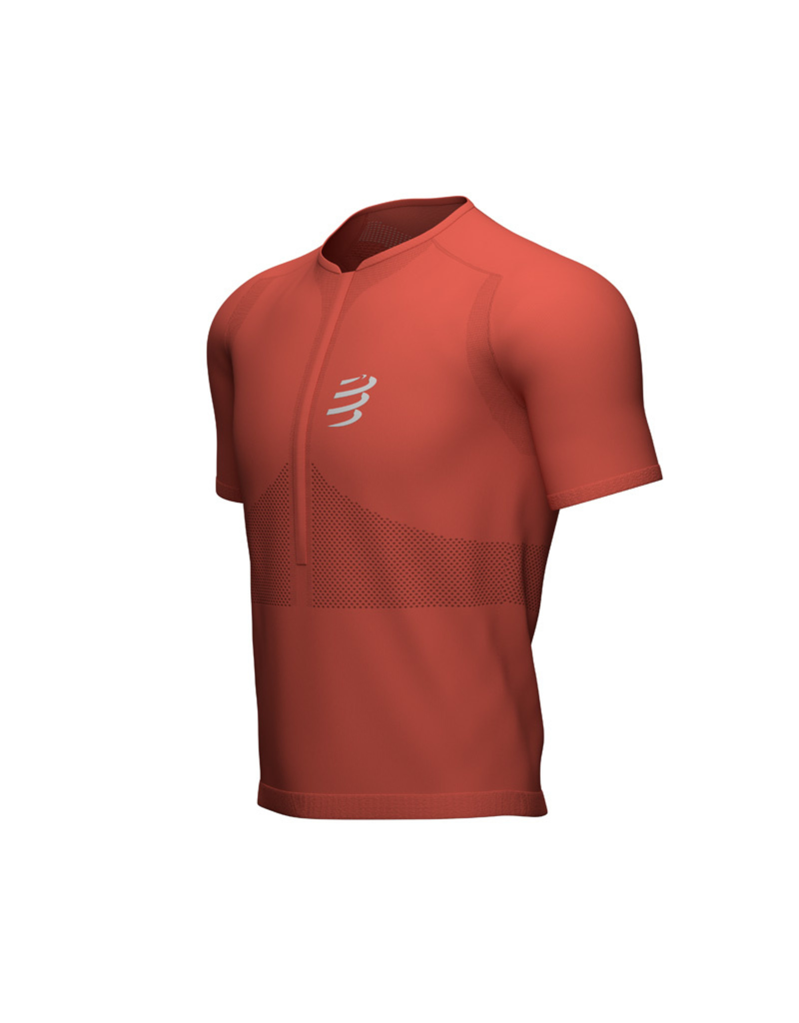 Compressport Trail Half-Zip Fitted SS Top - Heren - Red Clay