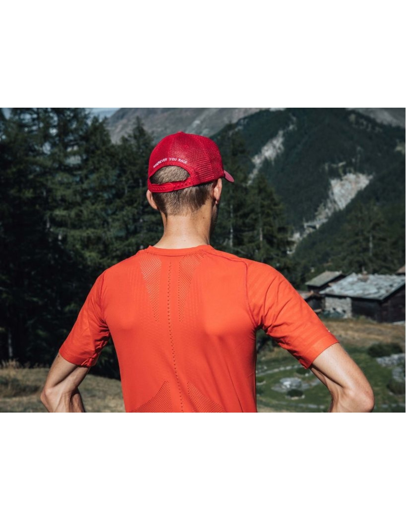 Compressport Trail Half-Zip Fitted Ss Top Chemise Avec Zip - Rouge