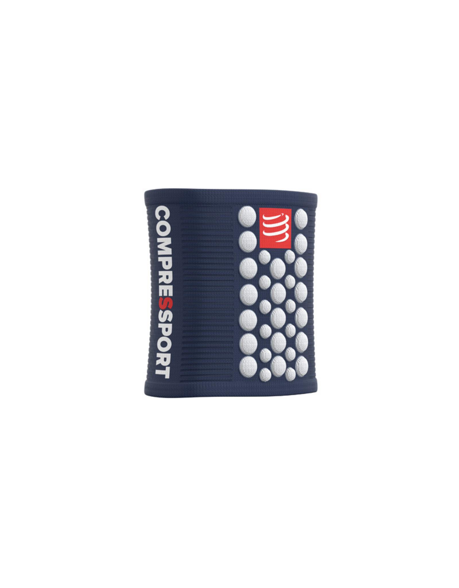 Compressport Zweetbandjes 3D Dots - Blauw/Wit