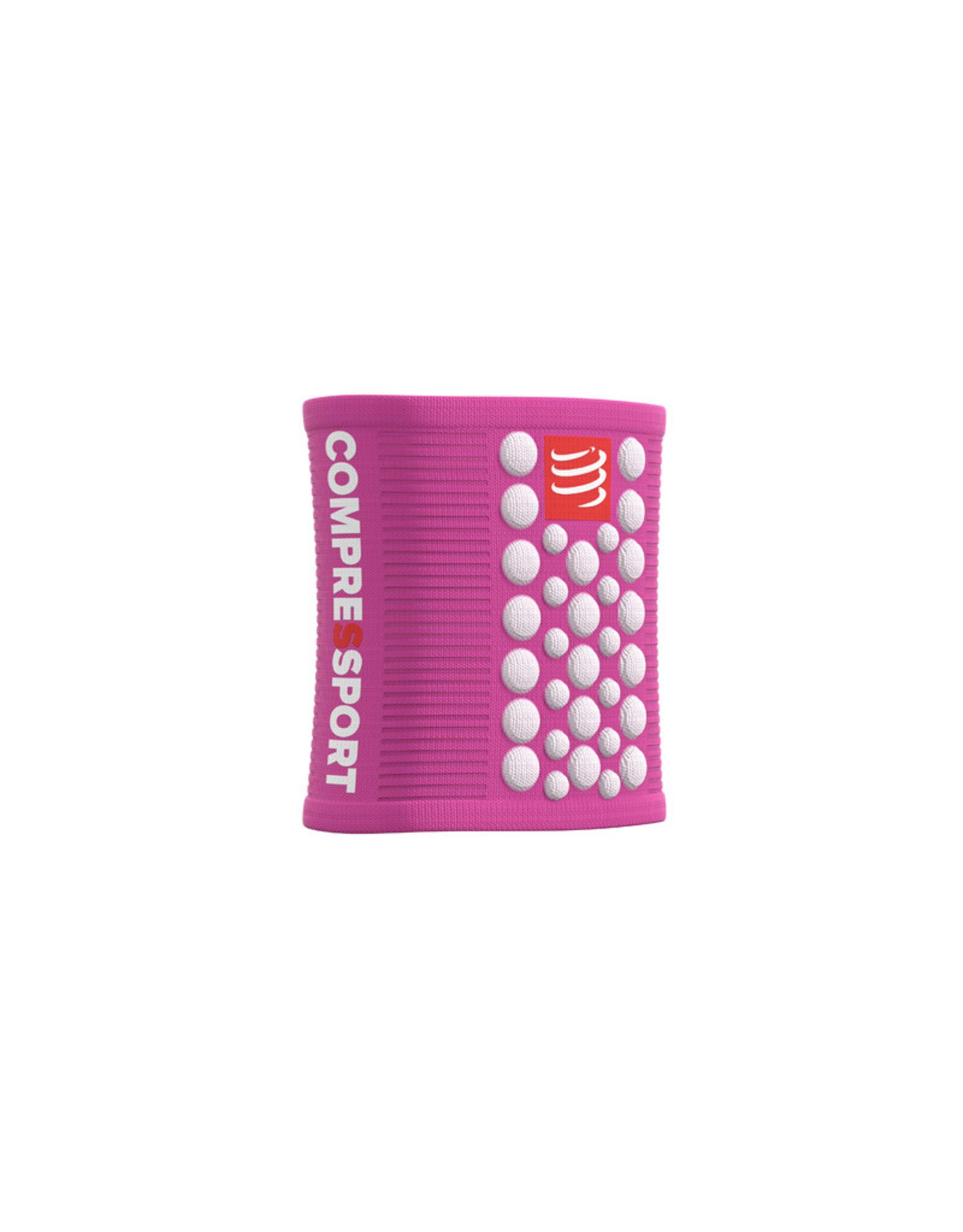 Compressport Zweetbandjes 3D Dots - Roze/Wit