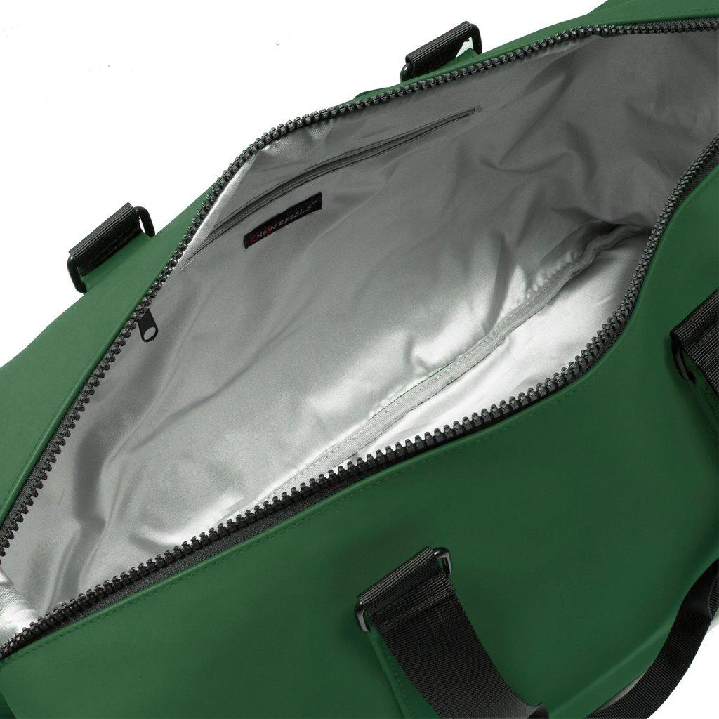 New Rebels® - Mart Weekender - Weekendtas - Reistas - Waterafstotend - Polyurethaan- Donkergroen