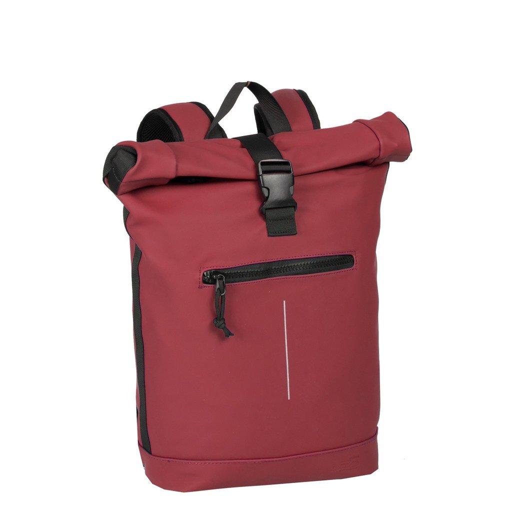New-Rebels® Mart - Roll-Top - Backpack - Burgundy - Large II - 30x12x43cm - Backpack