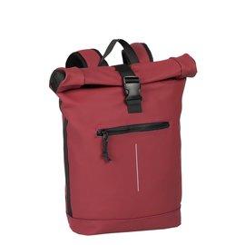 New-Rebels® Mart - Roll-Top - Backpack - Waterafstotend  - Burgundy - Large II - Rugtas - Rugzak