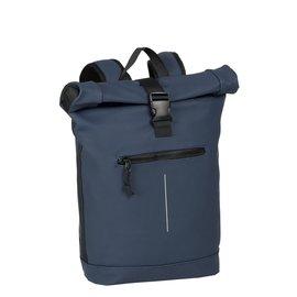 New-Rebels® Mart - Roll-Top - Backpack - Waterafstotend  - Navy Blauw - Large II - Rugtas - Rugzak