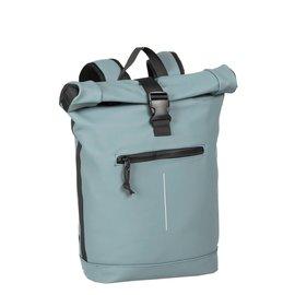 New-Rebels® Mart - Roll-Top - Backpack - Waterafstotend  - Zacht Blauw - Large II - Rugtas - Rugzak