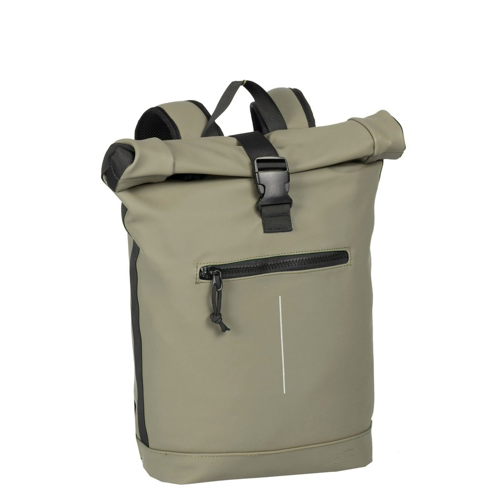 Mart Roll-Top Backpack Taupe Large II   Rucksack